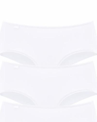 Hüftslips (3 Stück) in Microfaser weiß