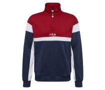 Sweatshirt 'Herron' dunkelblau / rot / weiß