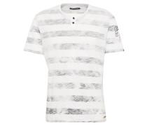 T-Shirt 'Tannik' schwarz / weiß