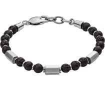 Armband 'jf03007040' grau / schwarz