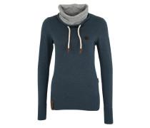 Pullover 'Geh Weg' taubenblau / grau