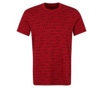 Schlafshirt rot / schwarz