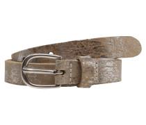 Ledergürtel 'Metallic' braun
