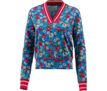 Sweatshirt blau / hellrot / weiß