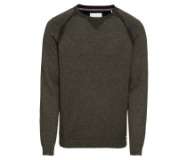 Pullover 'plated cnk Sweaters' oliv