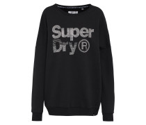 Sweatshirt 'sparkle Skater Crew' schwarz