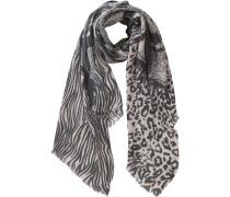 Schal beige / schwarz