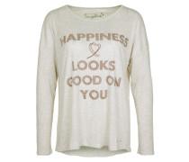 Feinstrickpullover 'happiness' beige
