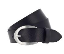 Ledergürtel '30 mm' schwarz