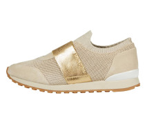 Slip On-Sneaker hellbeige / gold