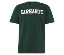 College Shirt dunkelgrün / weiß