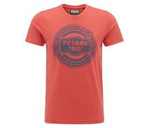 T-Shirt marine / hellrot