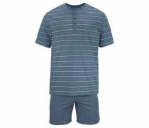 kurzer Pyjama taubenblau