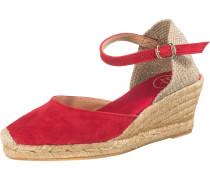 Sandaletten beige / rot
