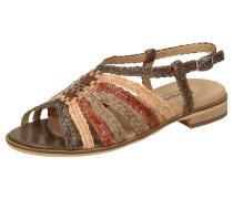Sandale ' Husniya-702 ' beige / braun / rot