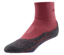 'tk2 short cool' Wandersocken grau / rot