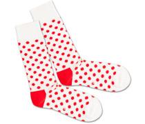 Socken 'Bloody Snow Balls' rot / weiß