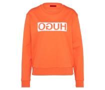 Sweatshirt 'Nicci' orange / weiß