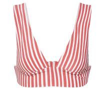 Bikinitop 'dos palmas plunge' rot / weiß
