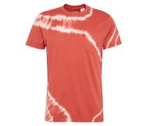 Shirt mit Streifen-Design rot / weiß