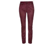 Jeans 'Slim Velvet' burgunder