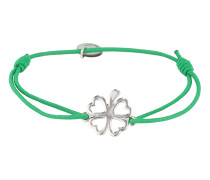 Armband 'Clover' grün / silber