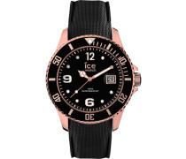 Uhr schwarz / rosegold