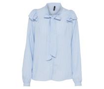 Bluse 'ayumi' blau / weiß