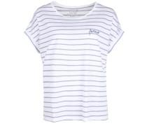 T-Shirt Slub Stripe Boxy Forever blau / weiß
