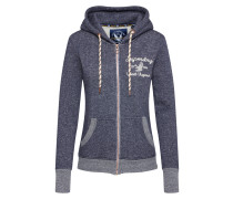 Sweatshirtjacke 'rylee Embroidered' navy