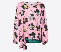 Bluse gelb / pink / schwarz