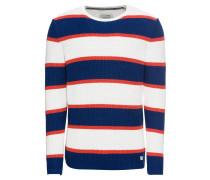 Pullover dunkelblau / rot / weiß