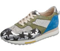 Trelly Sneakers Low blau / hellgrün / silber