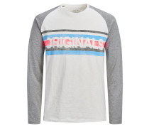 Shirt basaltgrau / weißmeliert