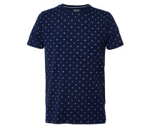 T-Shirt navy / perlweiß