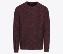 Pullover 'CN Donegal Neps' burgunder