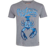 T-Shirt royalblau / grau