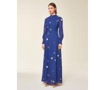 Maxi Kleid gemustert blau