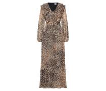 Kleid beige / kastanienbraun