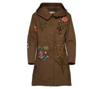 Mantel braun / hellgrün / mischfarben
