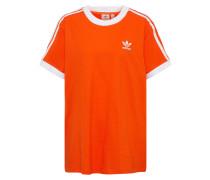 T-Shirt '3 Stripes' orangerot