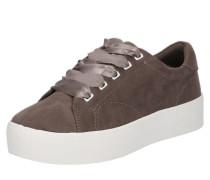 Sneaker mit Plateausohle mokka