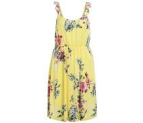 Gemustertes Träger Kleid gelb