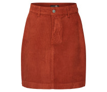 Rock 'Cord Mini Skirt' rot