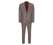 Anzug 'slhslim-Myloend Sand Check Suit B'