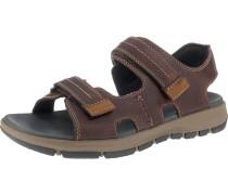 Sandalen dunkelbraun / schwarz