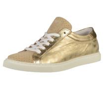 Sneaker gold / weiß