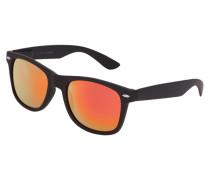 Sonnenbrille rostrot / schwarz