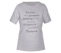 T-Shirt 'melange Mix&match' graumeliert