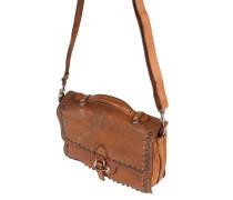 Handtasche mit Nieten braun